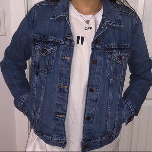 LEVI'S Dark Blue Ex-Boyfriend Denim Jacket Size: M